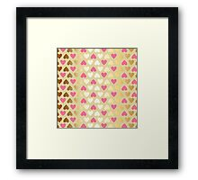 Faux Gold & Pink Hearts  Framed Print