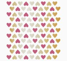 Faux Gold & Pink Hearts  Kids Clothes