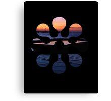 Tidal Pool Sunset Glow Canvas Print