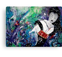 Geisha Dreaming Canvas Print