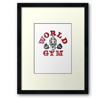 World Gym Framed Print
