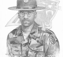 Retired Drill Sergeant drawing by Mike Theuer