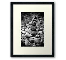 feather and stones Framed Print