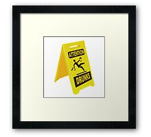 Slippery When Tipsy Framed Print