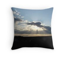 Perfect Sun Rays in my Brother's Backyard! Throw Pillow