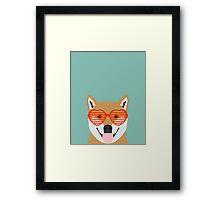 Shiba Inu - Cute shiba inu gifts for dog lovers dog owner gifts ideas cute shiba inu puppies Framed Print