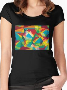 Psychedelic Polygons Women's Fitted Scoop T-Shirt