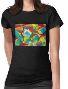 Psychedelic Polygons Womens Fitted T-Shirt