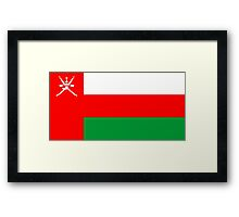 flag of Oman Framed Print