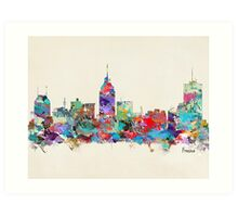Fresno California skyline Art Print