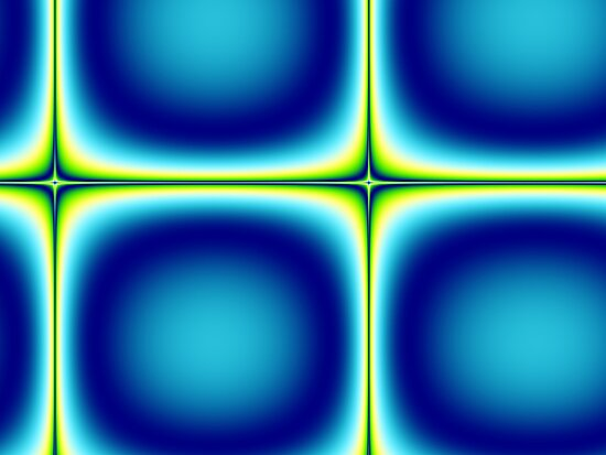 Blue Green Tile Fractal Abstract by Stacey Lynn Payne