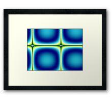 Blue Green Tile Fractal Abstract Framed Print