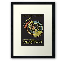 Vertigo Nod to Saul Bass Framed Print