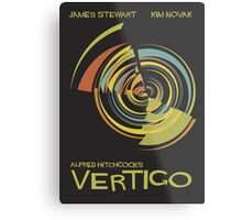 Vertigo Nod to Saul Bass Metal Print
