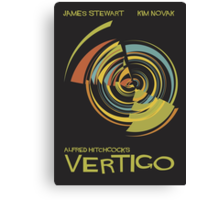 Vertigo Nod to Saul Bass Canvas Print