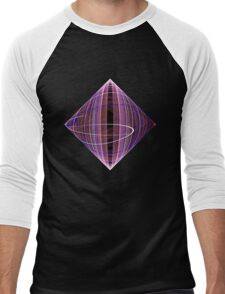 Diamond Swirl Men's Baseball ¾ T-Shirt