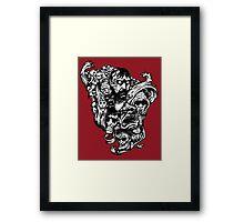 Horror Doodle Framed Print
