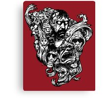Horror Doodle Canvas Print