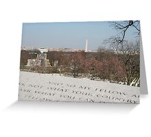 My fellow Americans Greeting Card