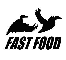 Fast food waterfowl Photographic Print
