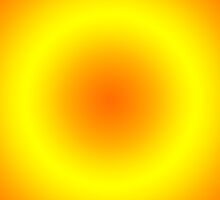 Sunny Yellow and Orange Circular Gradient by TigerLynx