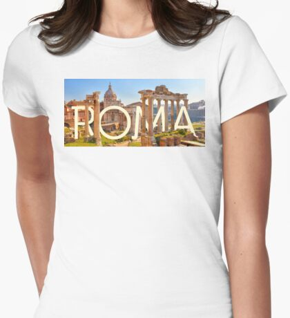To Rome, with love Womens Fitted T-Shirt