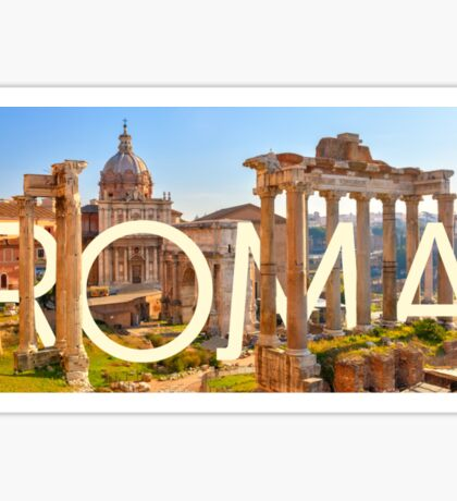 To Rome, with love Sticker