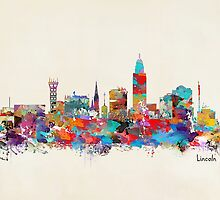 Lincoln Nebraska skyline by bri-b
