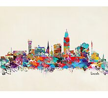 Lincoln Nebraska skyline Photographic Print