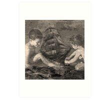 Neptunes children. Art Print