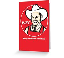Whammy Fried Chicken Greeting Card