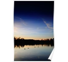 Sunset at Tiddenfoot Waterside Park Poster