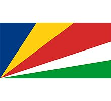 flag of Seychelles Photographic Print