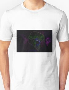 Major Kusanagi from Ghost in the Shell rendered in neon T-Shirt