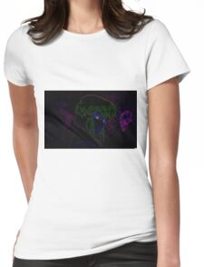 Major Kusanagi from Ghost in the Shell rendered in neon Womens Fitted T-Shirt