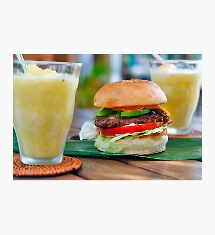 Gourmet Burger and Smoothies Photographic Print