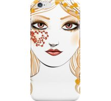 Autumn girl face iPhone Case/Skin