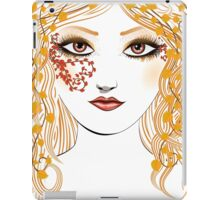 Autumn girl face iPad Case/Skin