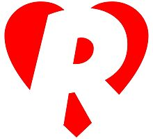 I love R - Heart R - Heart with letter R by theshirtshops