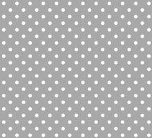 Grey and White Spotty Polka Dot Pattern by TigerLynx
