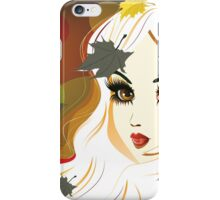 Autumn girl with white hair iPhone Case/Skin