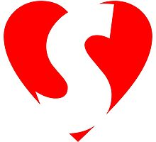 I love S - Heart S - Heart with Letter S by theshirtshops