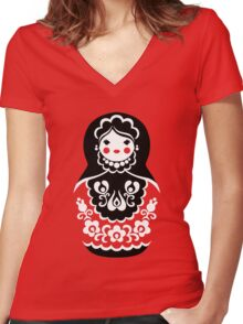 Matryoshka Women's Fitted V-Neck T-Shirt