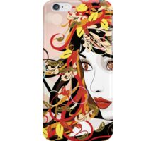 Autumn Girl face 3 iPhone Case/Skin