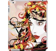 Autumn Girl face 3 iPad Case/Skin