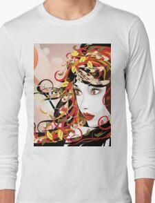 Autumn Girl face 3 Long Sleeve T-Shirt