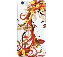 Autumn Girl face 5 iPhone Case/Skin