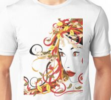 Autumn Girl face 5 Unisex T-Shirt