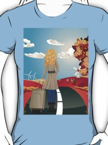 Autumn Landscape with Girl T-Shirt