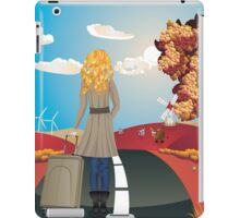 Autumn Landscape with Girl iPad Case/Skin
